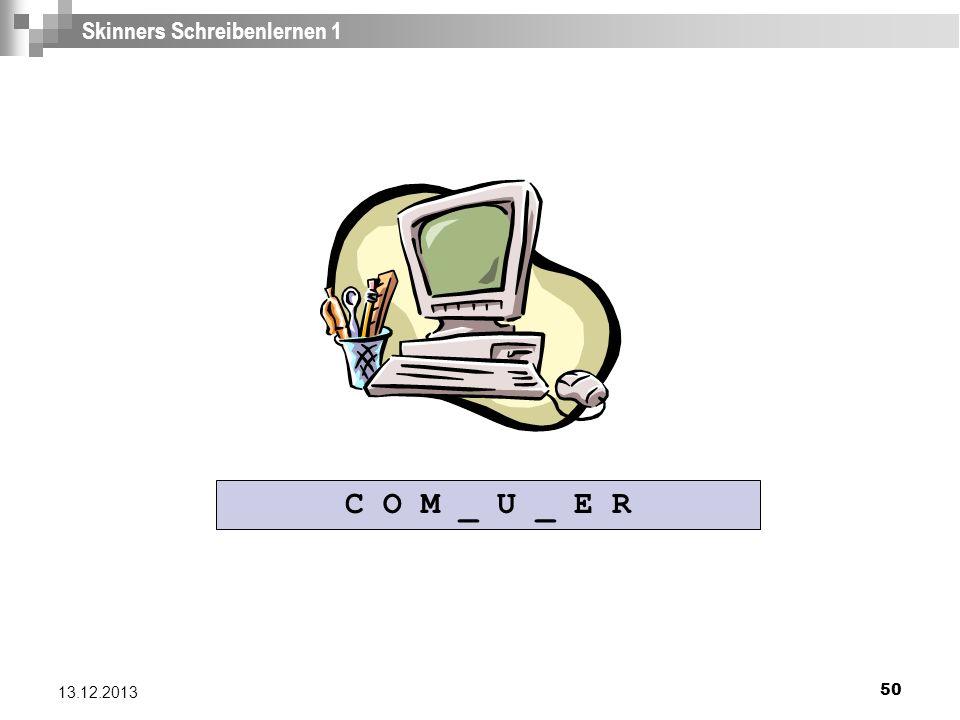 Skinners Schreibenlernen 1