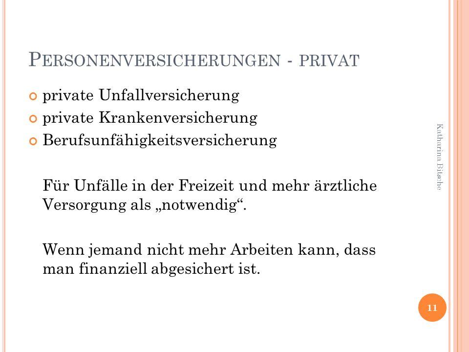Personenversicherungen - privat