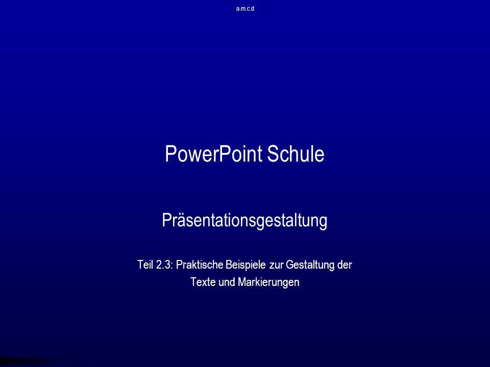 PowerPoint Schule Präsentationsgestaltung