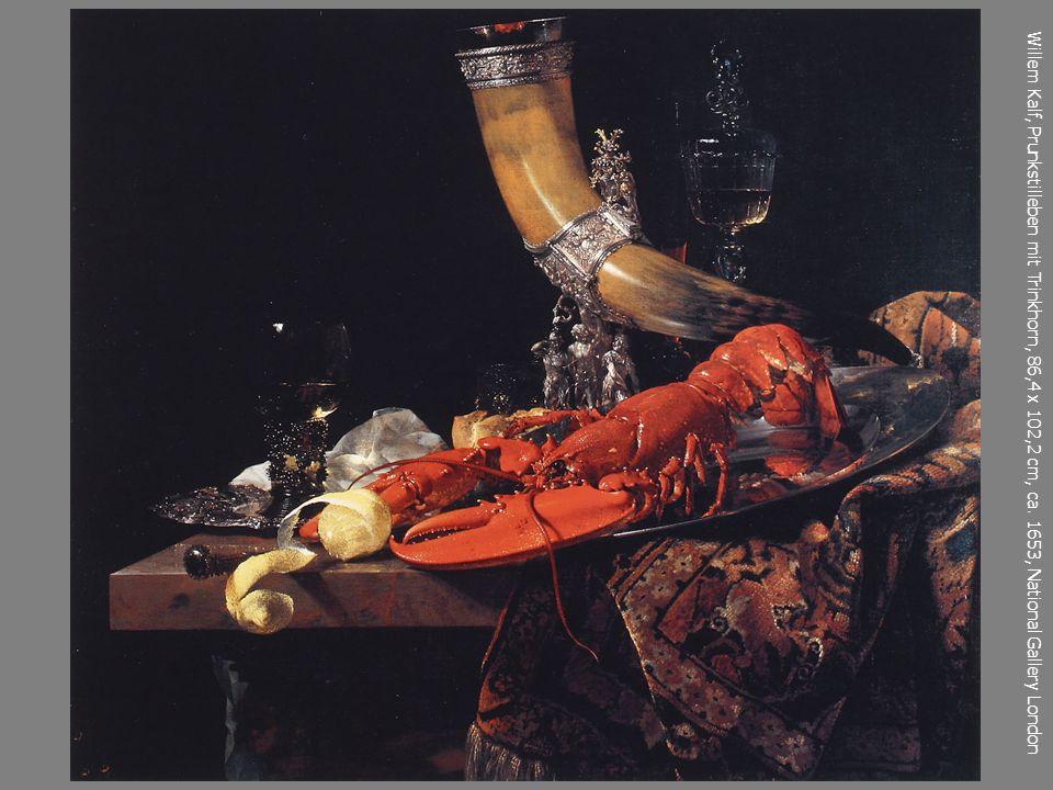 Willem Kalf, Prunkstilleben mit Trinkhorn, 86,4 x 102,2 cm, ca