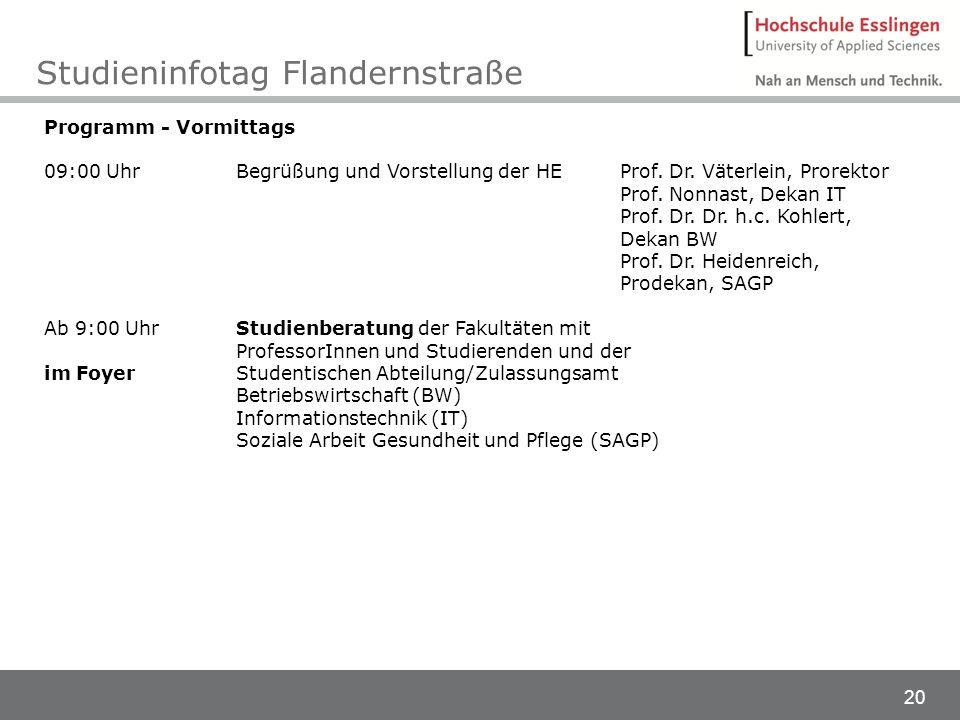 Studieninfotag Flandernstraße