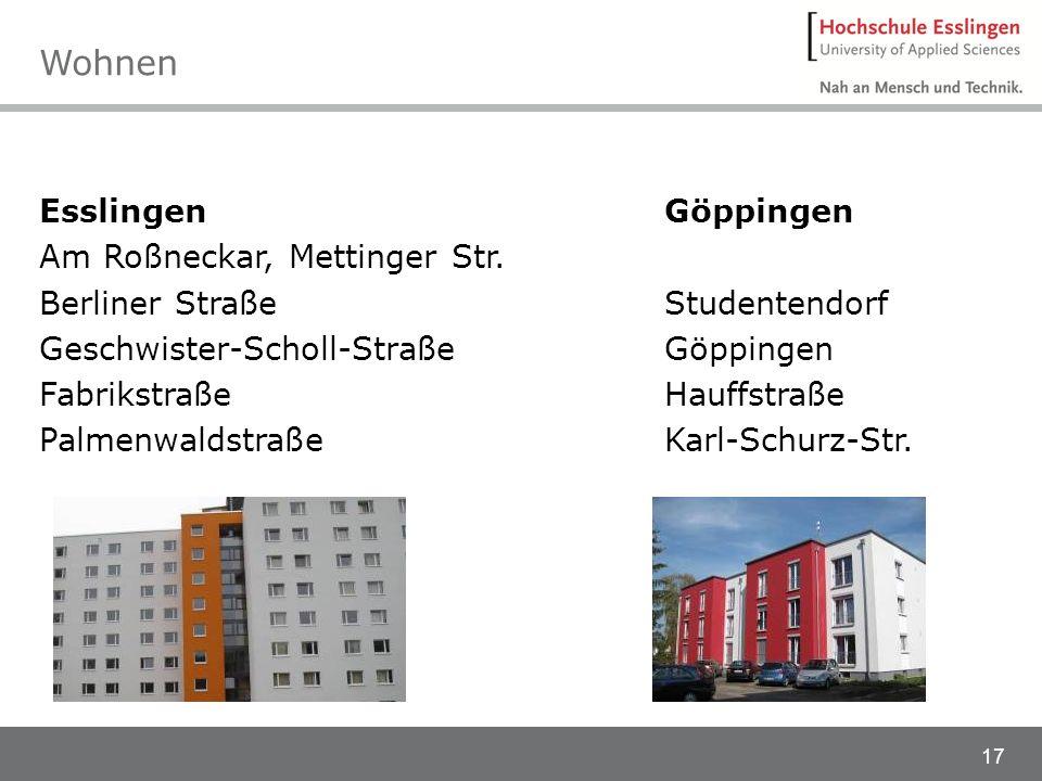 Wohnen Esslingen Am Roßneckar, Mettinger Str. Berliner Straße