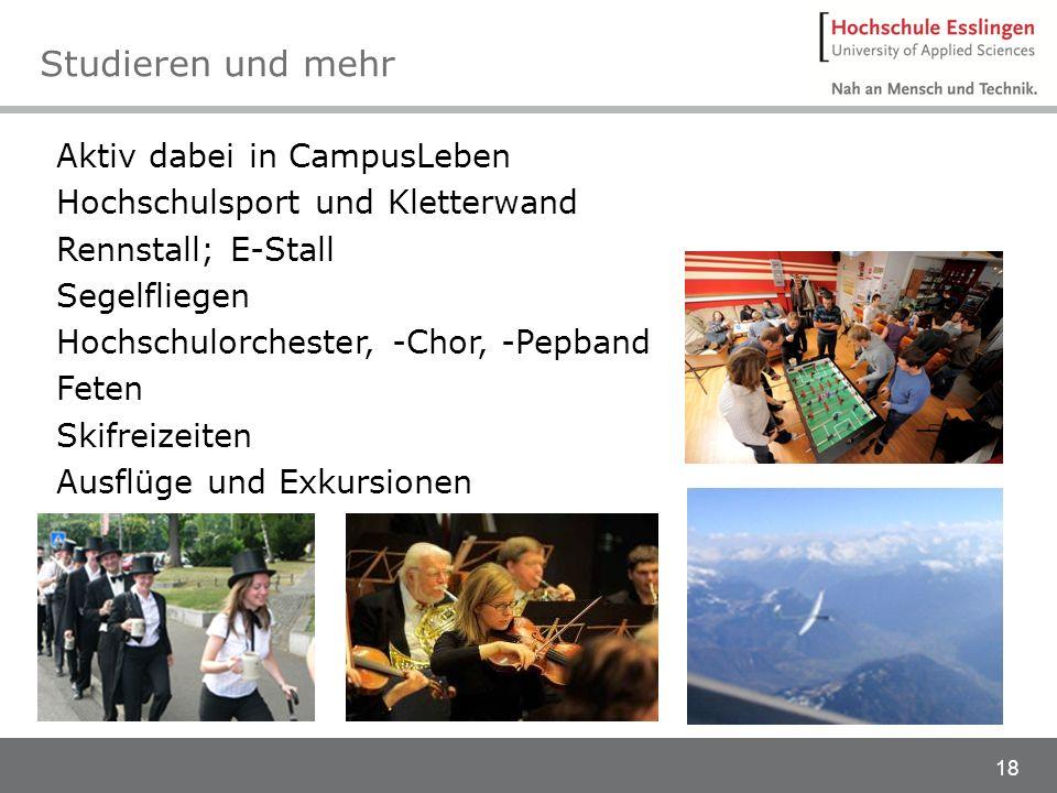 Studieren und mehr Aktiv dabei in CampusLeben