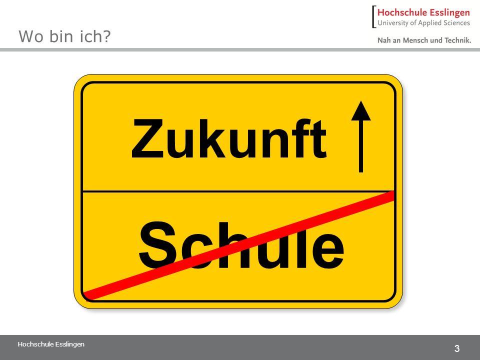 Wo bin ich Zukunft Schule Hochschule Esslingen