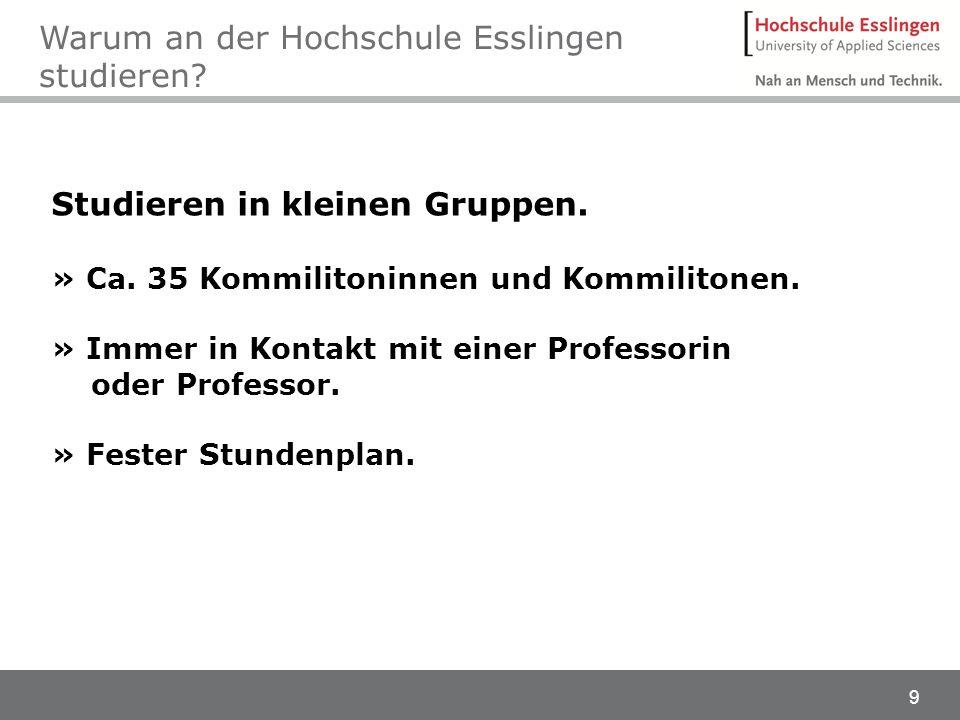 Warum an der Hochschule Esslingen studieren