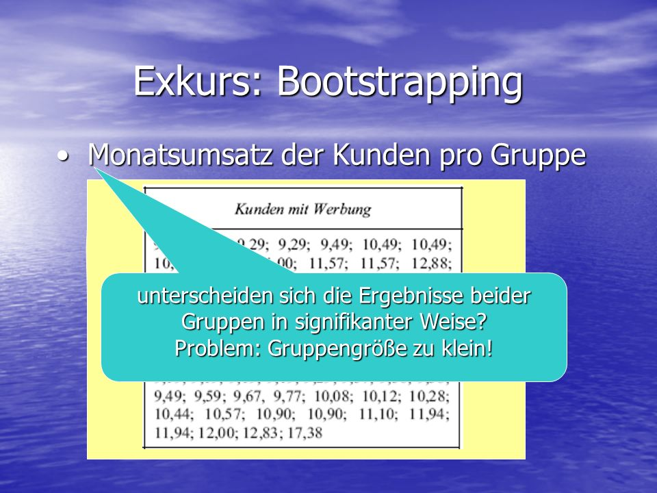 Exkurs: Bootstrapping