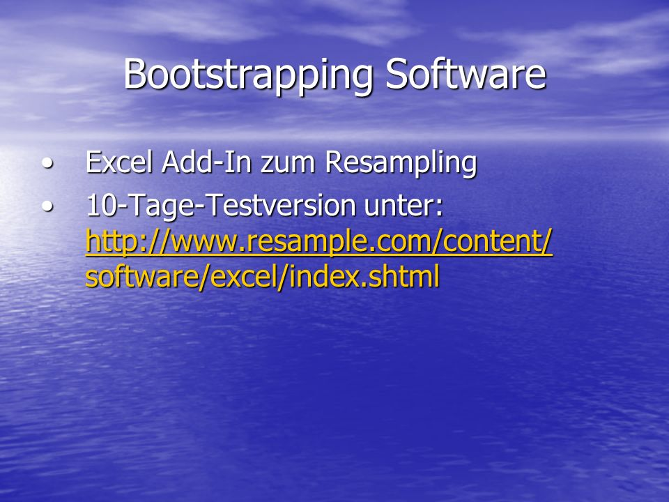 Bootstrapping Software