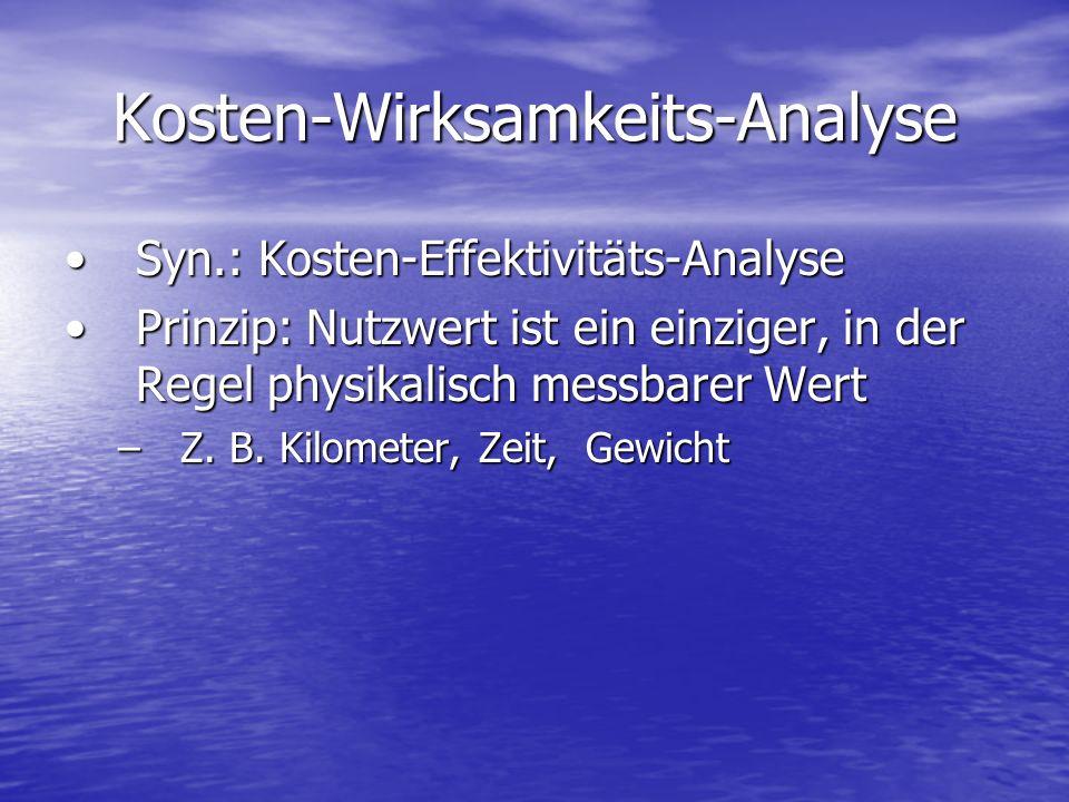Kosten-Wirksamkeits-Analyse
