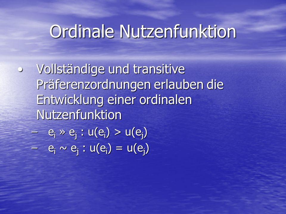 Ordinale Nutzenfunktion