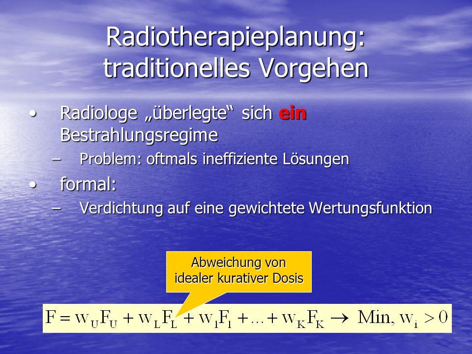 Radiotherapieplanung: traditionelles Vorgehen
