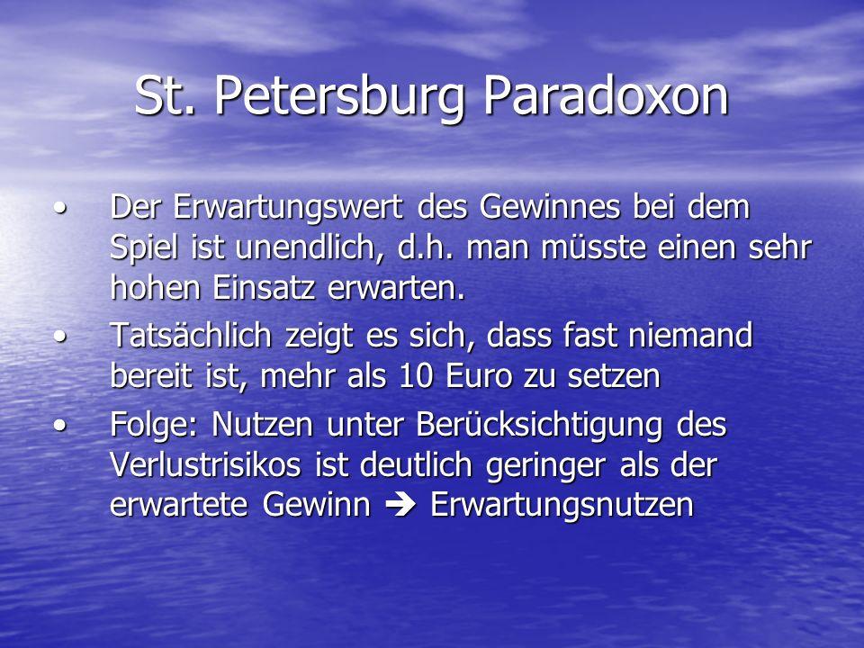 St. Petersburg Paradoxon
