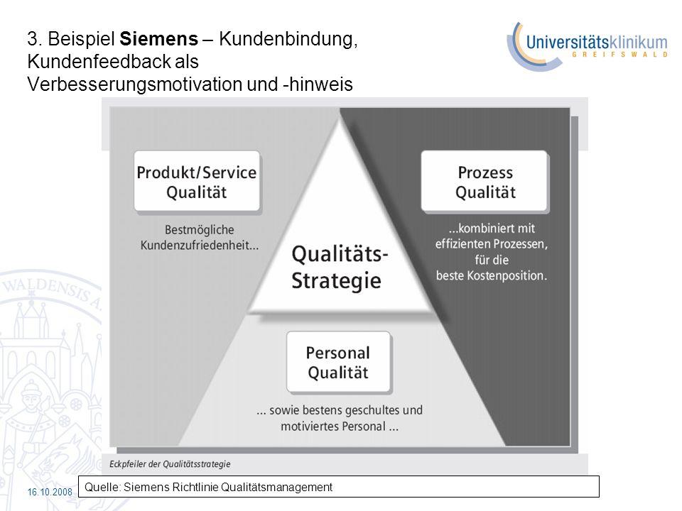 3. Beispiel Siemens – Kundenbindung, Kundenfeedback als Verbesserungsmotivation und -hinweis