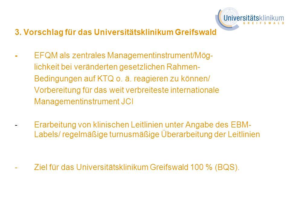 3. Vorschlag für das Universitätsklinikum Greifswald