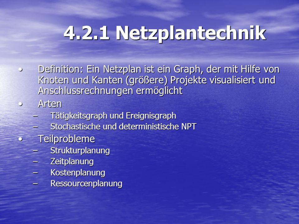 4.2.1 Netzplantechnik