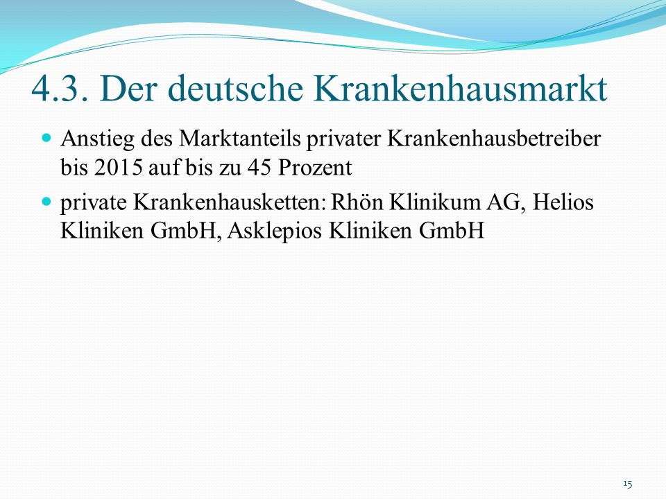 4.3. Der deutsche Krankenhausmarkt