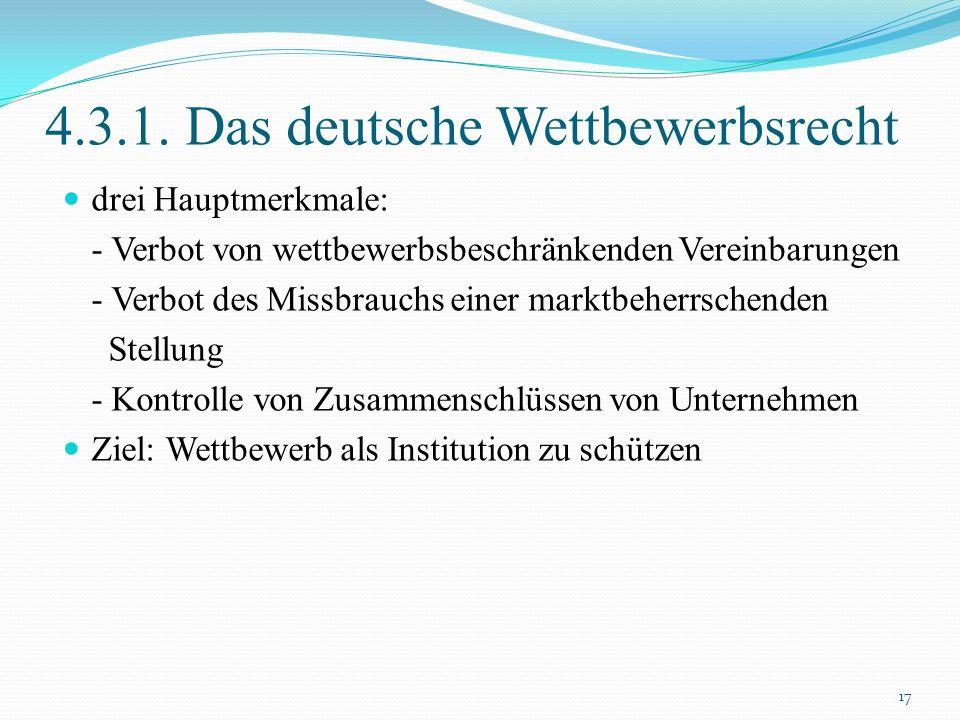 4.3.1. Das deutsche Wettbewerbsrecht