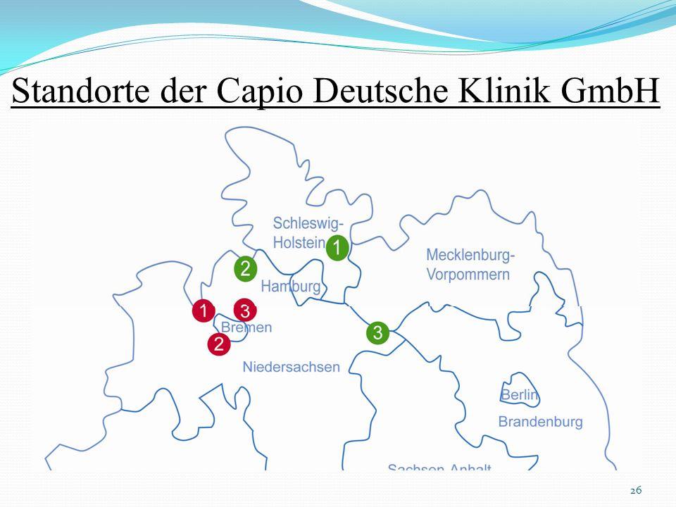 Standorte der Capio Deutsche Klinik GmbH