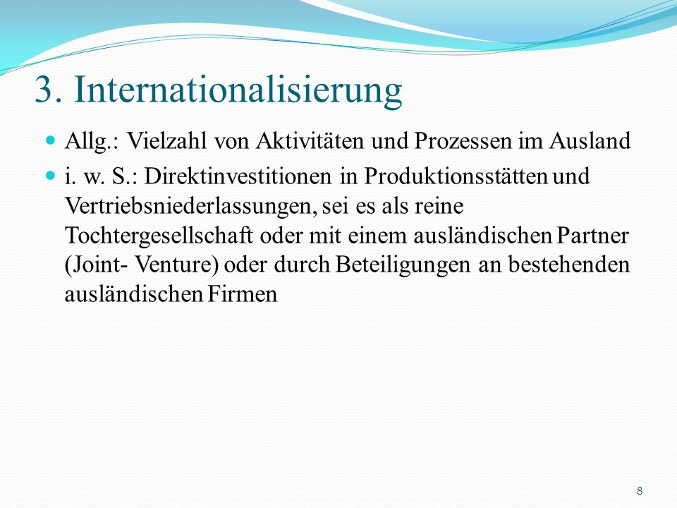 3. Internationalisierung