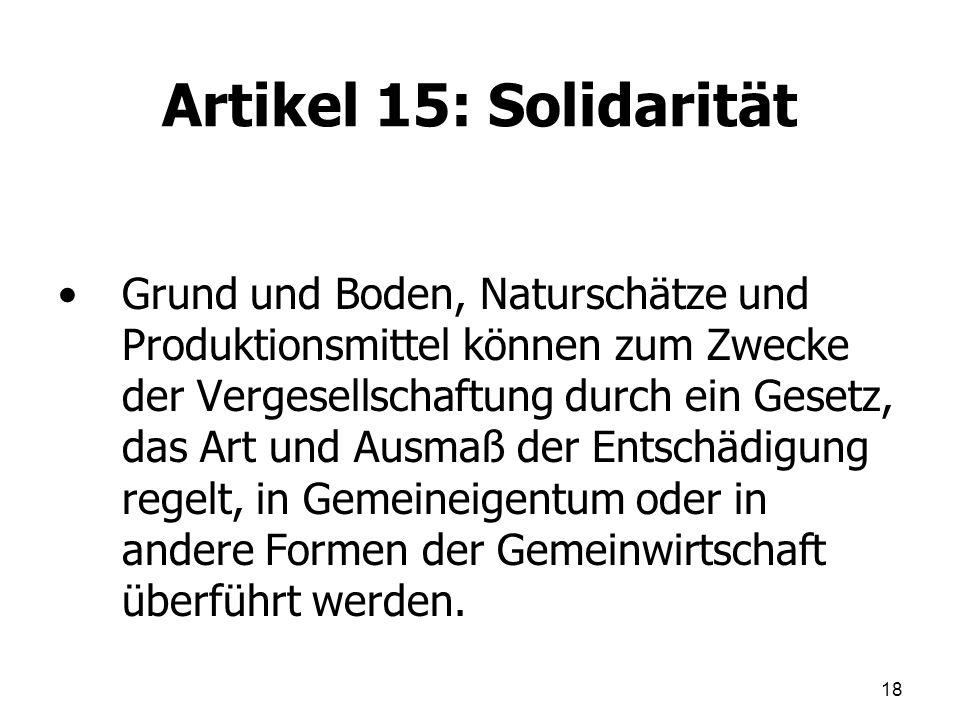 Artikel 15: Solidarität