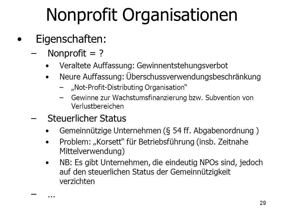 Nonprofit Organisationen