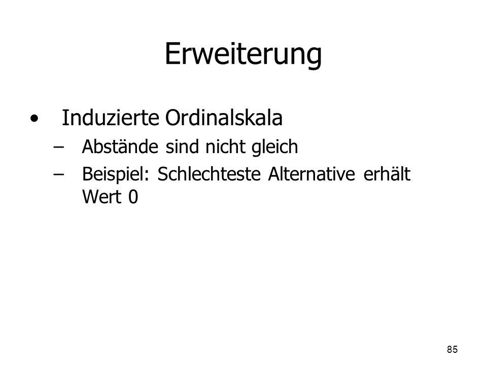 Erweiterung Induzierte Ordinalskala Abstände sind nicht gleich
