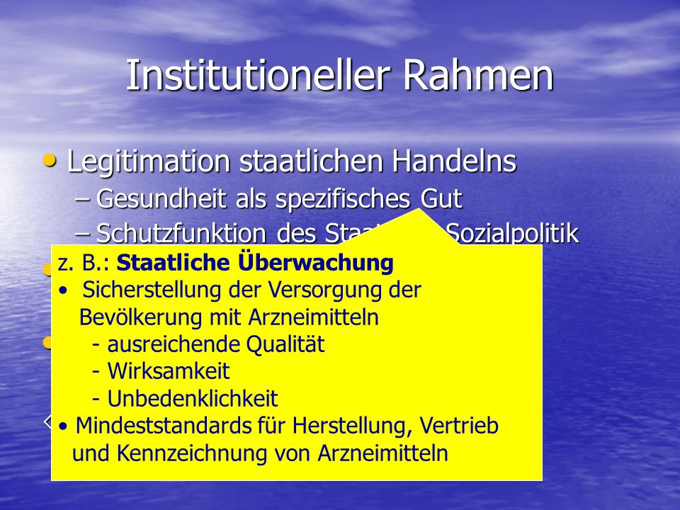 Institutioneller Rahmen