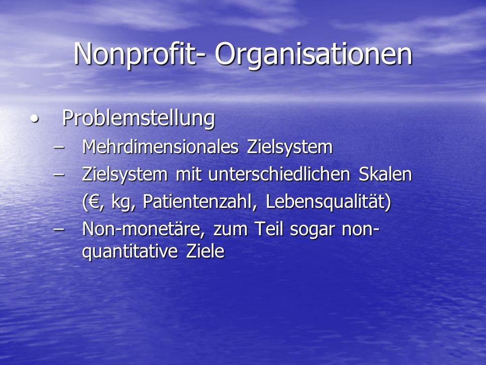Nonprofit- Organisationen