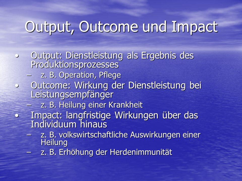 Output, Outcome und Impact