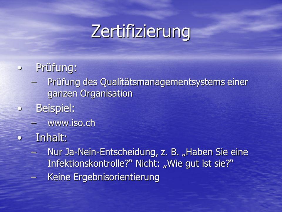 Zertifizierung Prüfung: Beispiel: Inhalt: