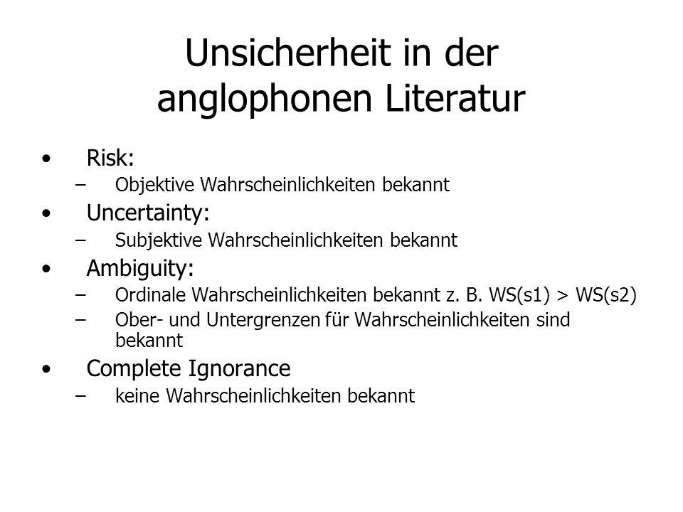 Unsicherheit in der anglophonen Literatur