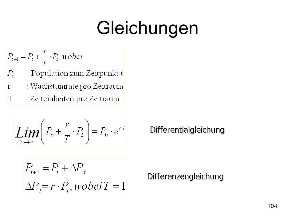 Gleichungen Differentialgleichung Differenzengleichung