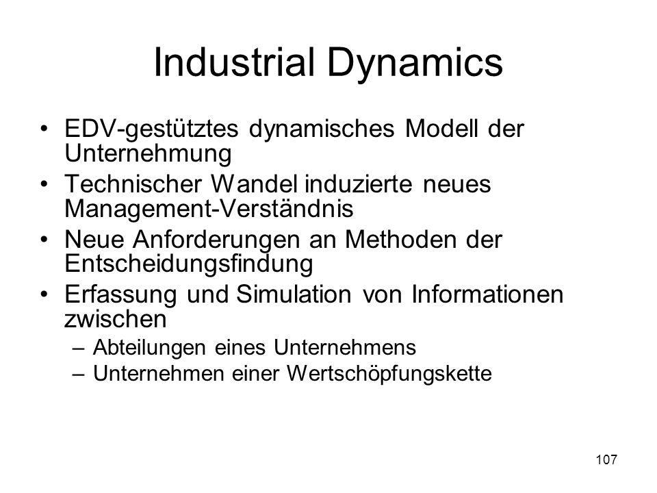 Industrial Dynamics EDV-gestütztes dynamisches Modell der Unternehmung