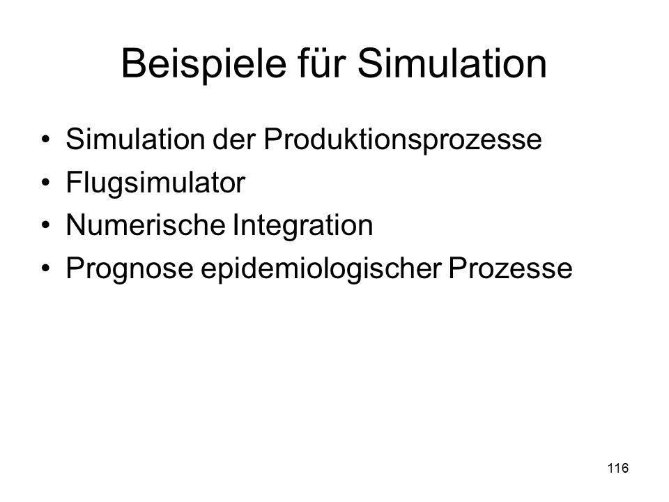 Beispiele für Simulation