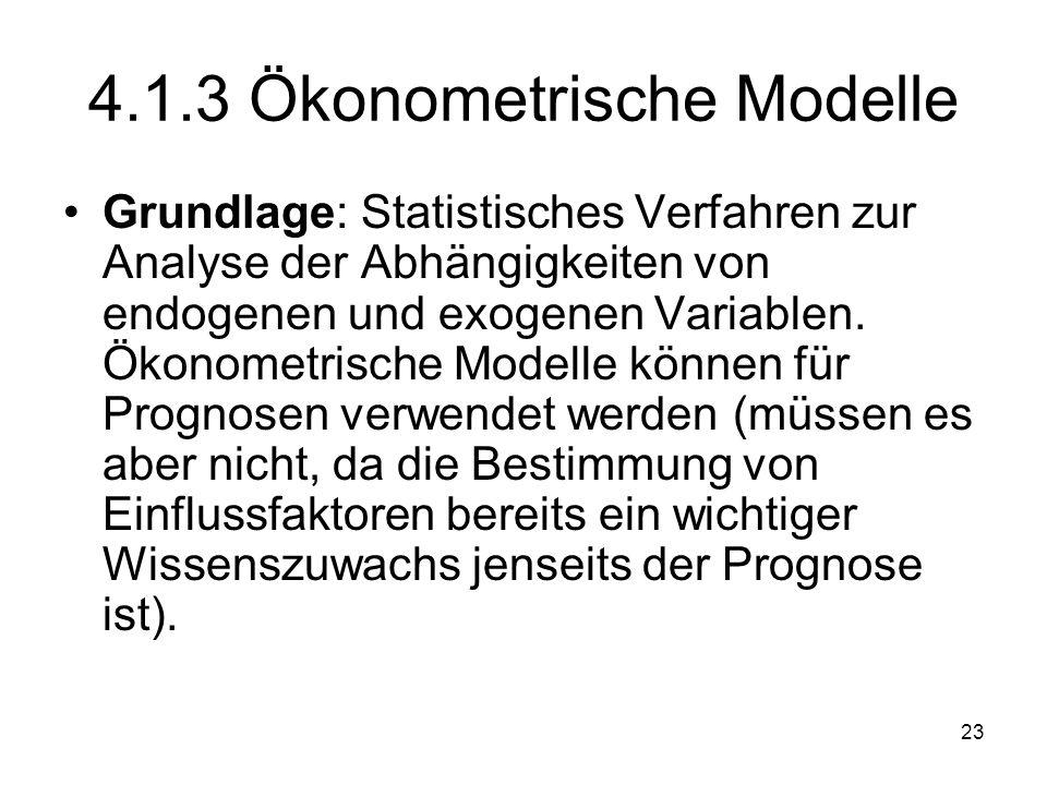 4.1.3 Ökonometrische Modelle