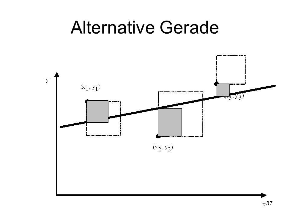 Alternative Gerade