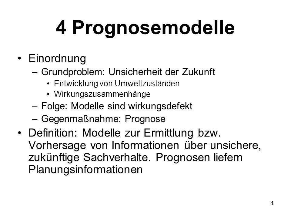 4 Prognosemodelle Einordnung