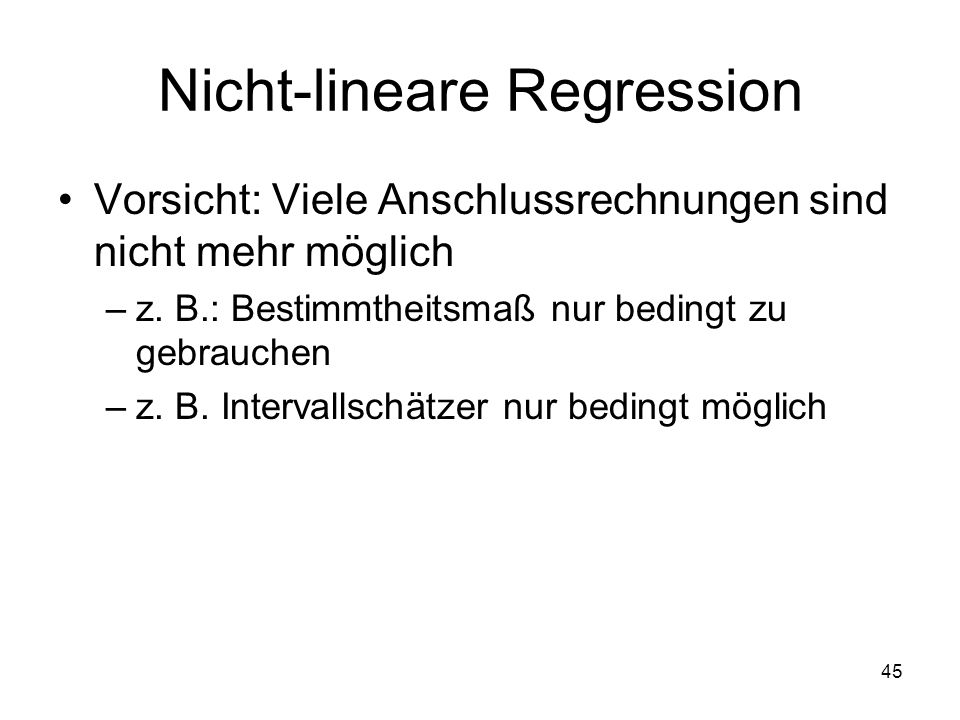 Nicht-lineare Regression