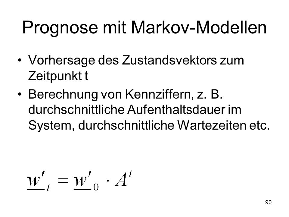 Prognose mit Markov-Modellen