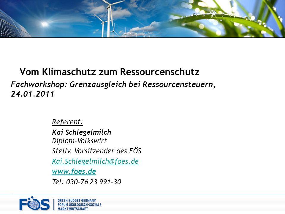 Vom Klimaschutz zum Ressourcenschutz