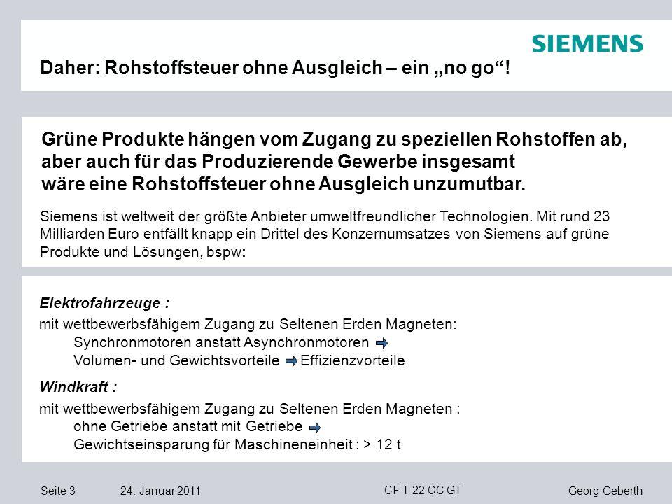 """Daher: Rohstoffsteuer ohne Ausgleich – ein """"no go !"""