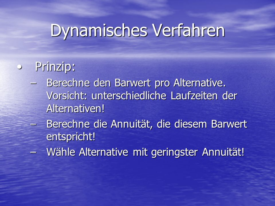 Dynamisches Verfahren
