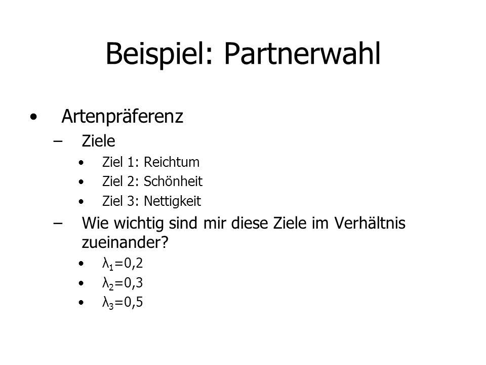 Beispiel: Partnerwahl
