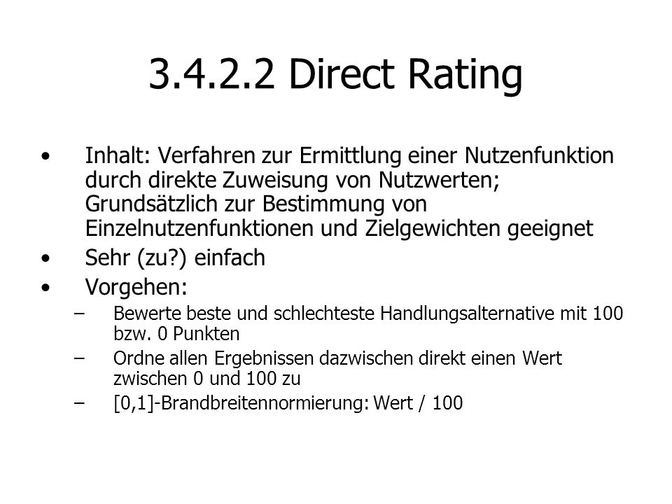 Direct Rating