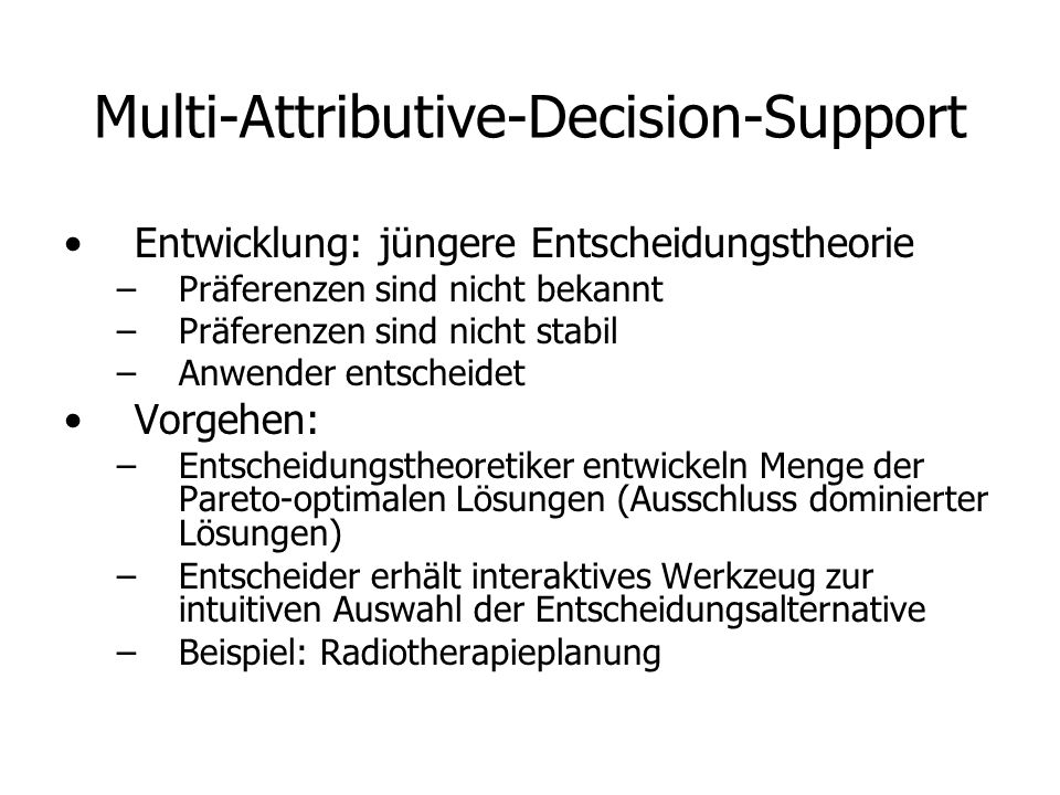 Multi-Attributive-Decision-Support