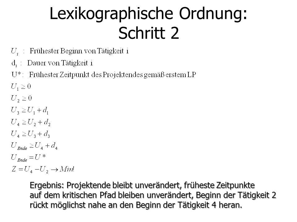 Lexikographische Ordnung: Schritt 2