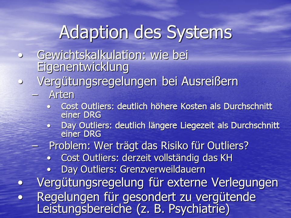 Adaption des Systems Gewichtskalkulation: wie bei Eigenentwicklung
