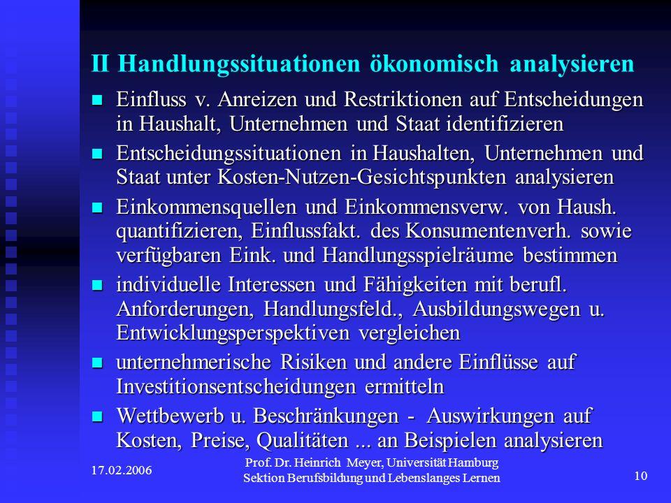 II Handlungssituationen ökonomisch analysieren