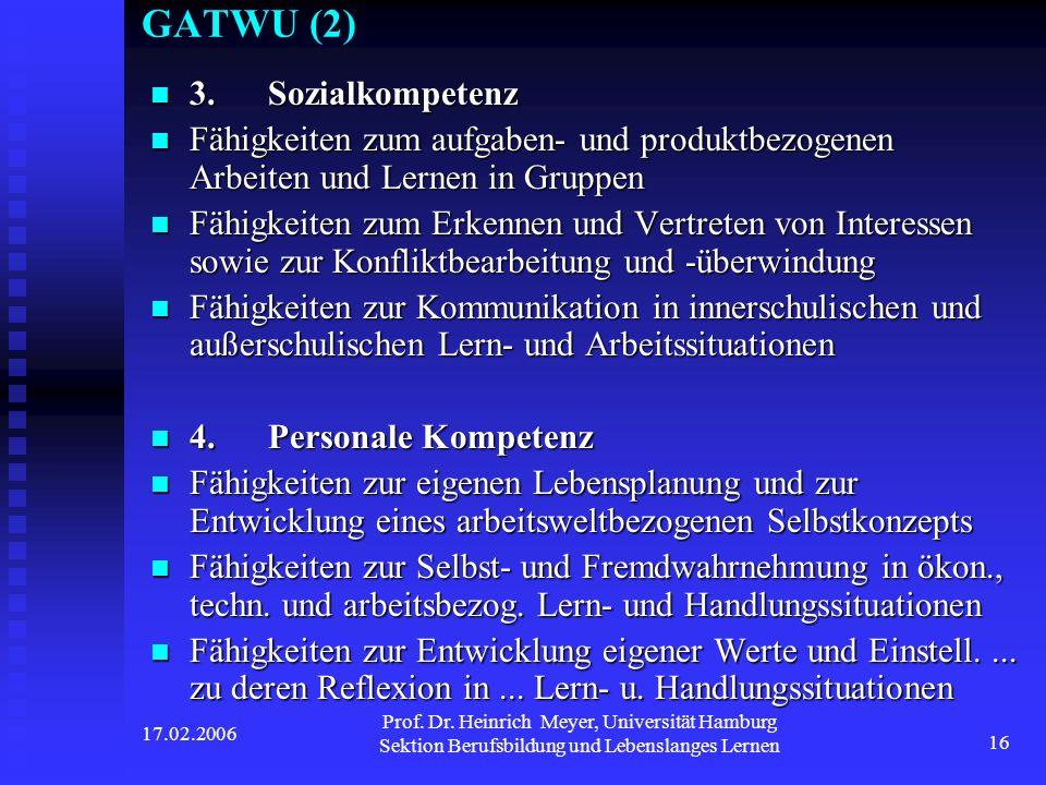 GATWU (2) 3. Sozialkompetenz