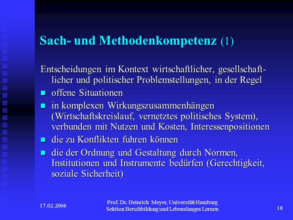 Sach- und Methodenkompetenz (1)