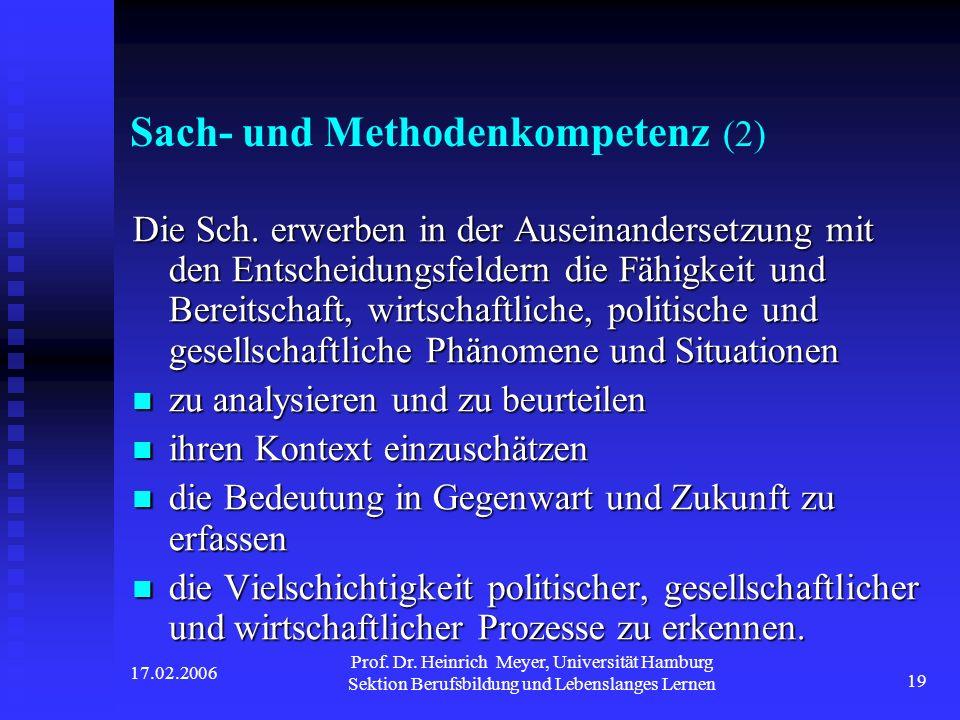 Sach- und Methodenkompetenz (2)